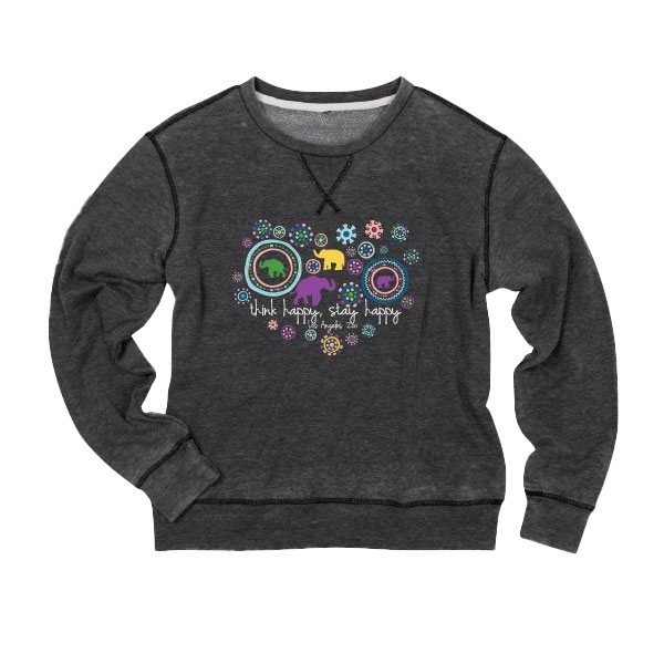CREWNECK SWEATSHIRT FOLK BURST ELEPHANT