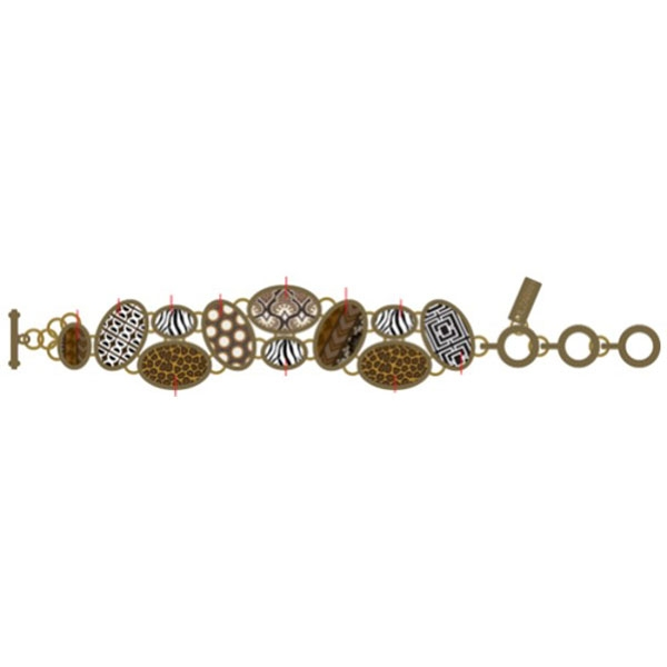 ANIMAL PRINT COBBLESTONE BRACELET