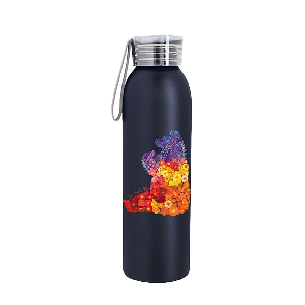 Floral Bear Bottle BLACK
