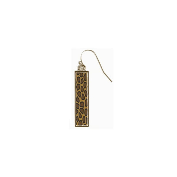 Animal Print Reversible Bar Earrings