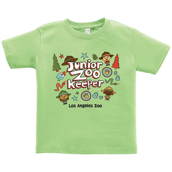 TODDLER SHORT SLEEVE TEE JUNIOR ZOOKEEPER KEY LIME