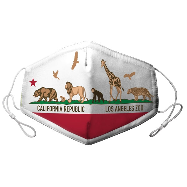 CALIFORNIA FLAG ANIMALS MASK: YOUTH/ADJUSTABLE