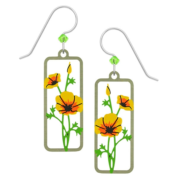 Yellow Poppy Earrings