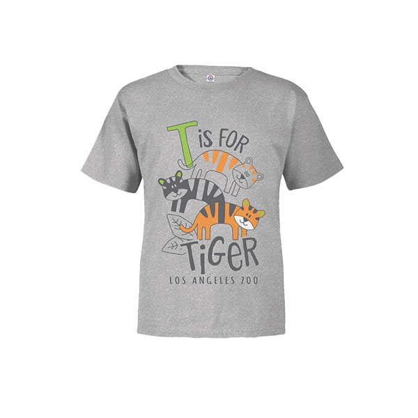 Toddler Short Sleeve Tee T is for Tiger