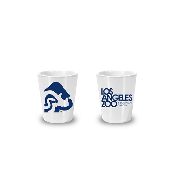 LOGO LUSTER SHOT GLASS WHITE