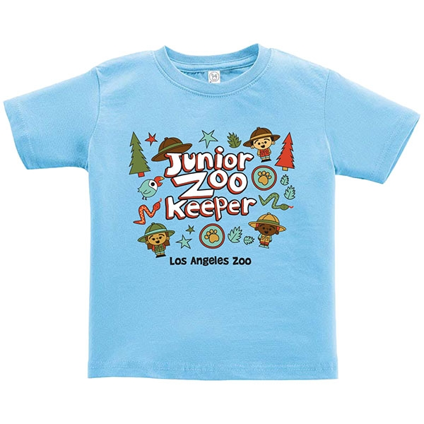 INFANT SHORT SLEEVE TEE JUNIOR ZOOKEEPER BLUE