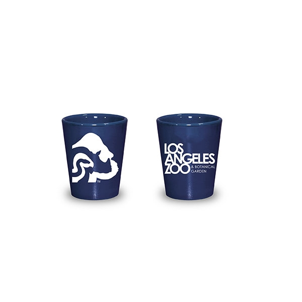 LOGO LUSTER SHOT GLASS BLUE
