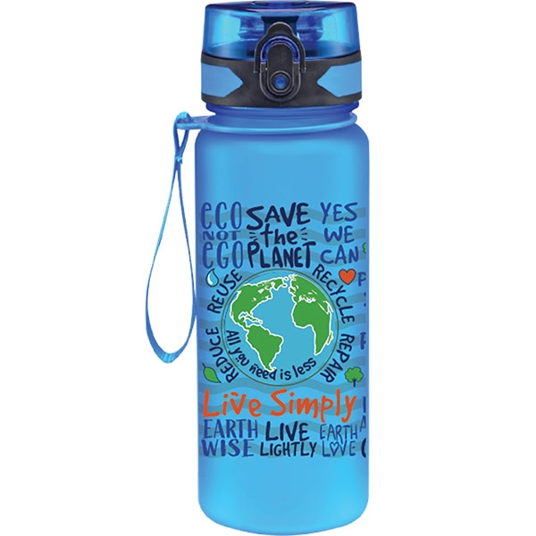 LIVE SIMPLY BLUE WATER BOTTLE