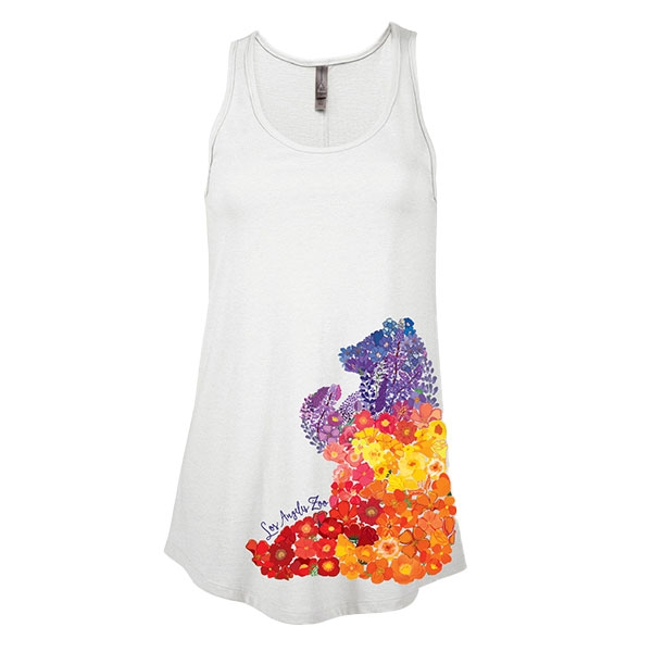 Ladies Tank Top Floral Bear