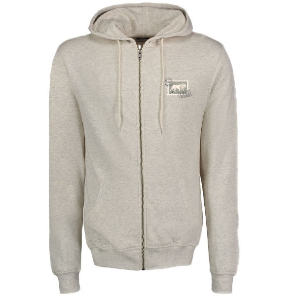 ADULT ZIP UP HOODY STAMP PRINT
