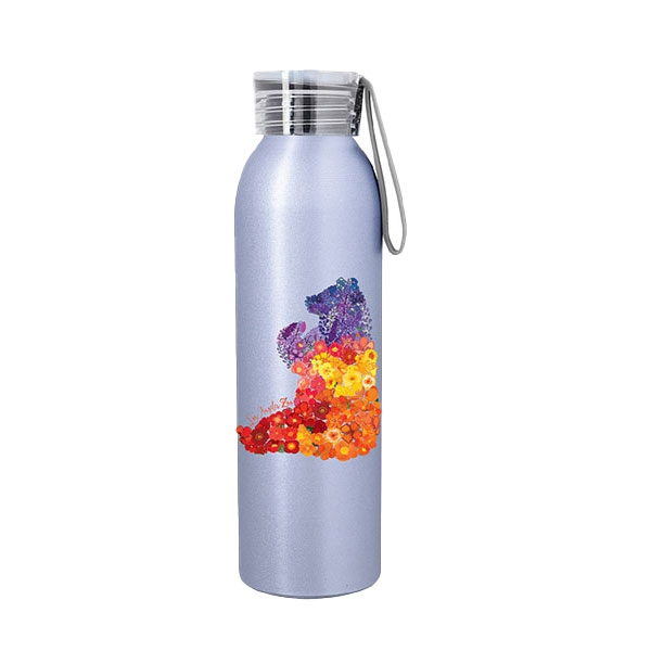 FLORAL BEAR BOTTLE SILVER
