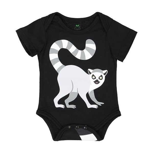 INFANT ONESIE RINGTAIL LEMUR