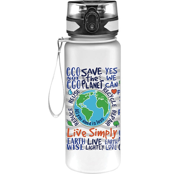 LIVE SIMPLY CLEAR WATER BOTTLE