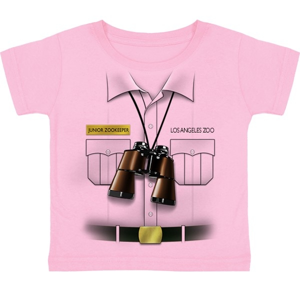 TODDLER SHORT SLEEVE TEE JUNIOR ZOOKEEPER VEST PINK