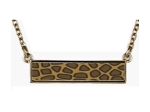Animal Print Reversible Bar Necklace